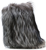 Casadei racoon fur-trimmed Chaucer boots
