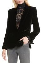 L'Agence Women's Velvet Blazer