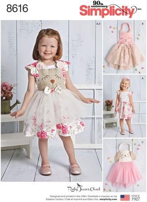 Simplicity Ruby Jean's Closet Children Dress Sewing Pattern, 8616