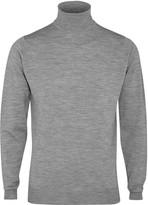 John Smedley Cherwell Grey Merino Wool Jumper