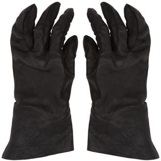 Boris Bidjan Saberi Black Vegetable-Tanned Gloves