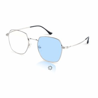Hindar Panda Women Photochromic Glasses Anti-UV Anti-Blue Light Mobile Phone Radiation No Degree Fashion Polygon Frame Sunglasses OM8007C02H