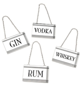 Godinger Liquor Labels (Set of 4)