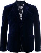 Alexander McQueen velvet blazer - men - Silk/Cotton/Polyester/Viscose - 46