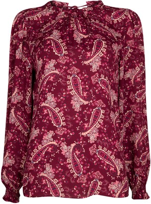 Wallis Pink Paisley Print High Neck Top