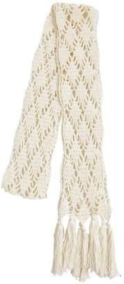 Saint Laurent Laine Cotton Blend Crochet Scarf