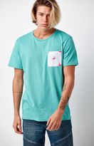 On The Byas Contrast Flamingo Print Pocket T-Shirt