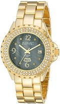 August Steiner Women's AS8156YG Gold-Tone Watch with Link Bracelet