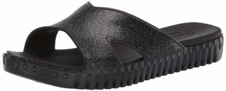 Skechers Women's Cali Gear Sepulveda-Glitter Cross Strap Slide with Luxe Foam Sandal