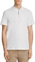 Vince Pique Zip Placket Slim Fit Polo Shirt