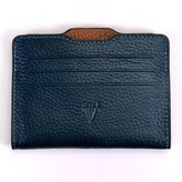 Atelier Hiva Double Card Holder Metallic Navy Blue & Brown