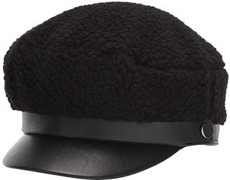 BCBGeneration Shearling Military (Black) Caps