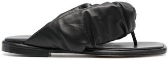 Hereu Elasticated Leather Slides