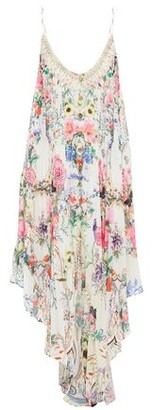 Camilla Asymmetric Pleated Floral-print Georgette Dress