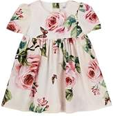 Dolce & Gabbana Infants' Rose-Print Cotton Poplin Dress & Bloomers Set