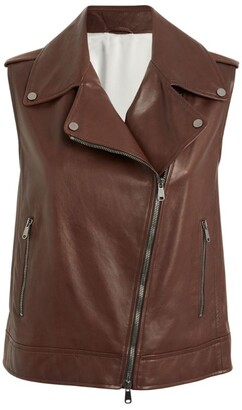 Brunello Cucinelli Leather Gilet