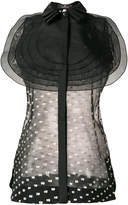 Capucci circular appliqué sleeveless blouse