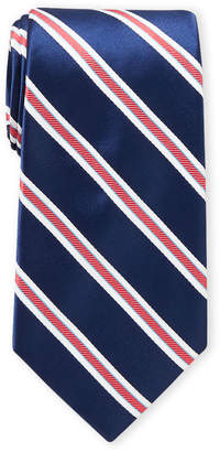 Ike Behar Ike By Navy Stripe Tie