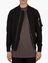 Black Lightweight Silk-blend Flight Jacket