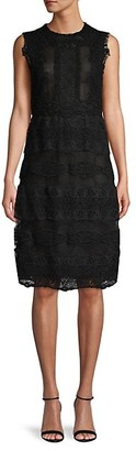 Valentino Sleeveless Broderie Anglaise Dress