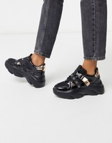 Asos Design DESIGN Darcy chunky lace up sneakers in black