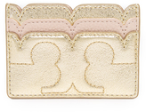 Tory Burch Scallop T Metallic Card Case