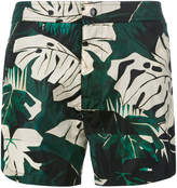 Moncler plant print swimming trunks