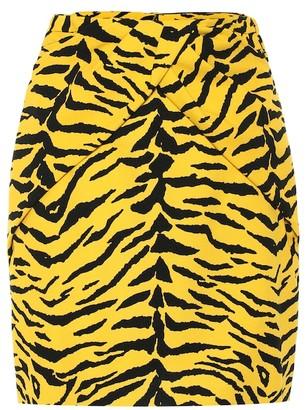 Saint Laurent Zebra-print miniskirt