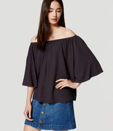 LOFT Off the Shoulder Swing Top