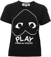 Comme des Garcons upside down logo print T-shirt - women - Cotton - XS
