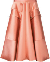 Rochas pleated skirt - women - Silk/Cotton/Polyester/Wool - 40
