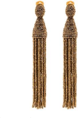 Oscar de la Renta Champagne gold-tone tassel earrings