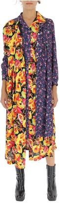 Junya Watanabe Floral Layered Shirt Dress