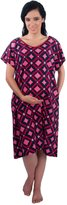 My Bella Mama Designer Hospital Maternity/Patient Gown (S/M, Navy Polka)