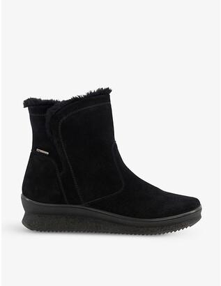 Dune Rafikii water-resistant faux-fur suede boots