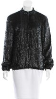 Gryphon Sequined Silk Bomber Jacket