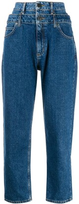 Sandro Kitty double-waisted jeans