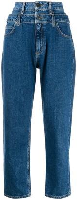 Sandro Paris Kitty double-waisted jeans