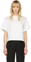 See by Chloe Off-White Embellished T-Shirt