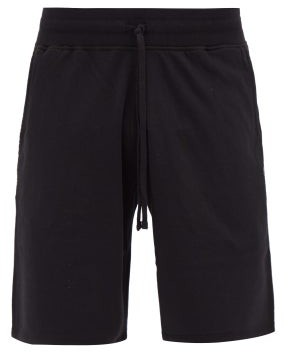 Reigning Champ Logo-patch Cotton-terry Shorts - Black