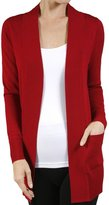 SNJ Women's Long Sleeve Knit Rib Open Front...Cardigan (Plus Size Available) ,L