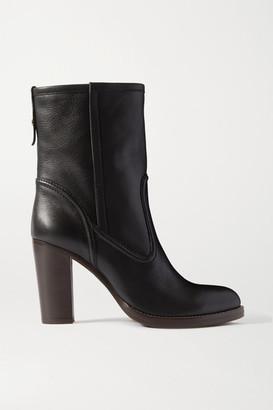 Chloé Emma Leather Ankle Boots - Black
