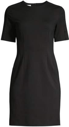 Escada Sport Studded Trim Sheath Dress