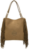 Tory Burch fringed detail tote - women - Leather - One Size