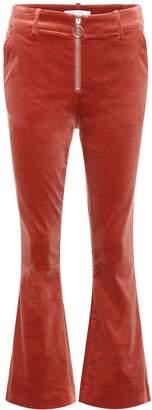 Frame Velvet cropped trousers