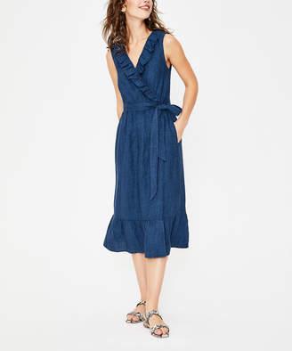 Boden Women's Casual Dresses LBL - Blue Nancy Linen Midi Dress - Women & Petite