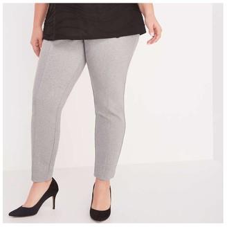 Joe Fresh Women+ Ponte Pant, Light Grey Mix (Size 2X)