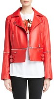 Christopher Kane Women's Zip Off Leather Biker Jacket