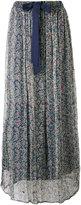 Twin-Set floral print sheer skirt - women - Viscose/Cotton - XS