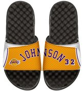 ISlide NBA Retro Legends Magic Johnson 32 Jersey Slide Sandal, White
